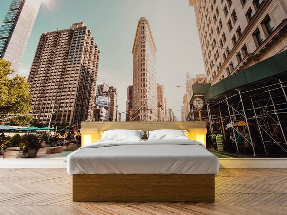 Flatiron Building In New York Photo Wallpaper Removable Wall Wallpaper Peel And Stick Non Woven Wall Mural Wall Decal Wall Mural W36