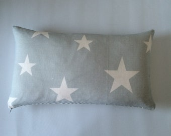 Bolster Cushion Cover Pillow Made In Peony & Sage All Stars Large in Seamist