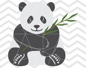 Baby panda svg, Baby panda, Cute panda, Panda svg, Panda dxf, Panda cut file, Panda vector, Panda svg files, Panda clip art, Animal svg