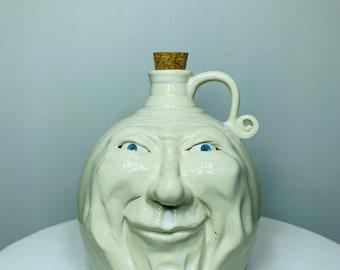 Old man face jug