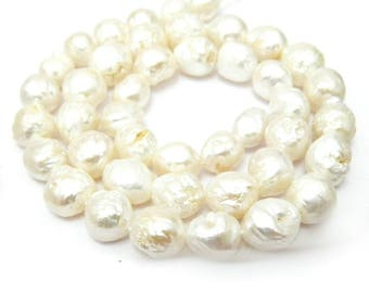 Gorgeous and super rare white rosebud granulated freshwater all nacre pearls