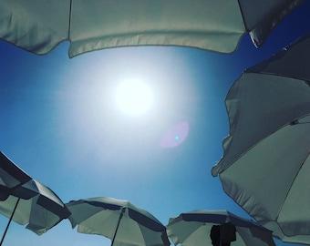 Photo sun umbrellas Tel-Aviv Israel