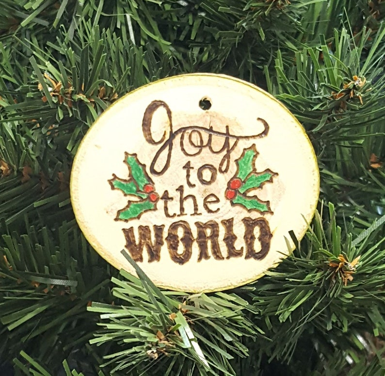 Joy To The World Christmas Ornament Handmade Ornament Christmas Christmas Tree Christmas Decor Holiday Decor