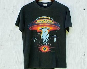 13d37eb83 Boston US Tour 1987 Tee - Small - 80s Boston US Tour Tshirt - Rock Band  Shirt - VTG Boston Band Shirt - Single Stitch - 80s Band Shirt