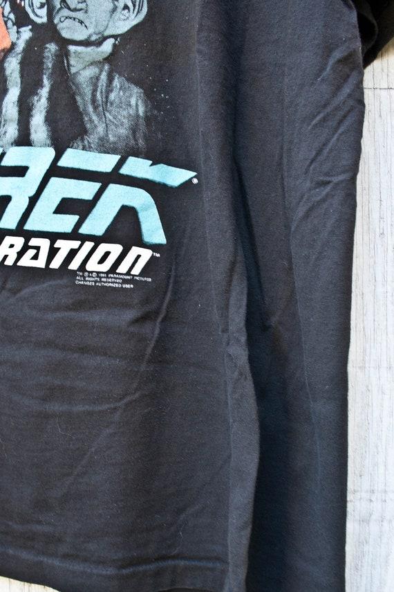 90 s Star Trek Ferengi Tshirt - Sweat Vintage noir noir Vintage - Quark - 90 s Graphic Tee - Shirt 1991 Star Trek - XL - des années 90 la prochaine génération 06b4f6