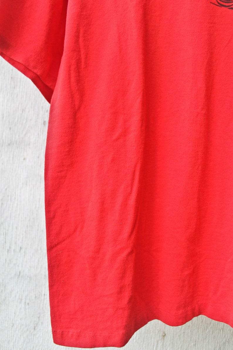 623127db8496 90s Crystal Glass TShirt Vintage Red Shirt Vintage Canada
