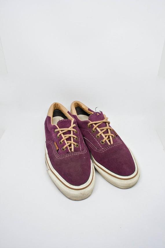 80s VANS Sneakers -  - Size 7.5 Womens - Vtg Purpl
