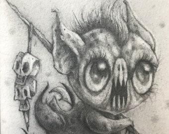 Little sea monster - original art