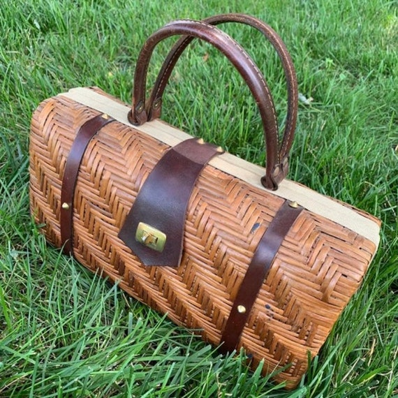 Rectangular Basket Weave Purse