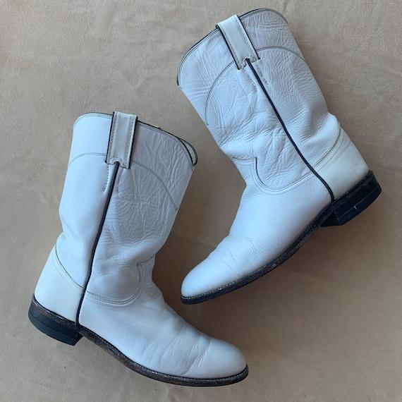 Justin Cowboy Boots White