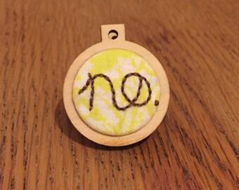 NO Means NO pins