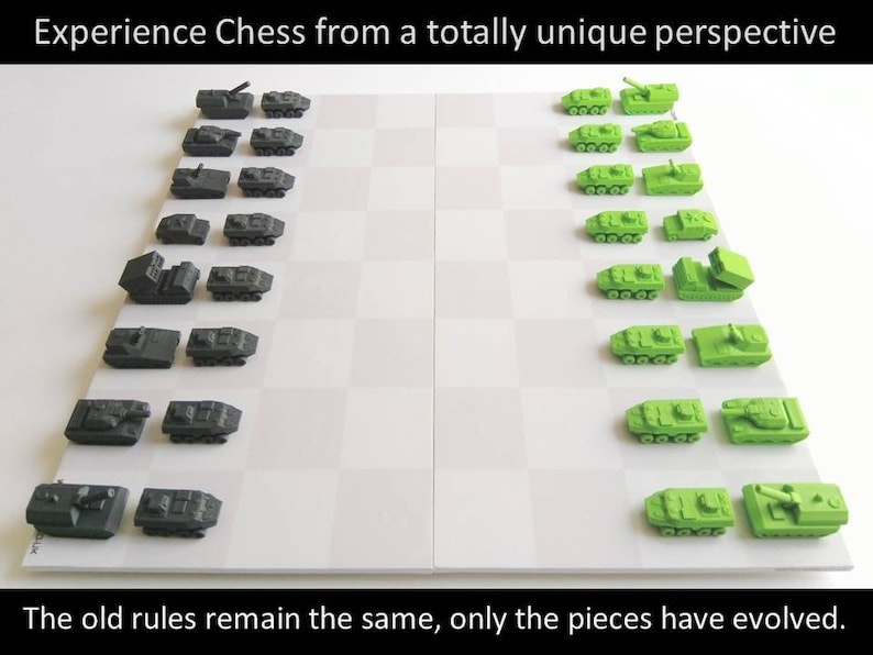 Army & Navy Editions War-Chess 3D-Printable Pieces Download image 0