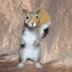 Needle Felted Grey Gray Squirrel - squirrels, felt, wool, animals, wildlife, ornament, sculpture