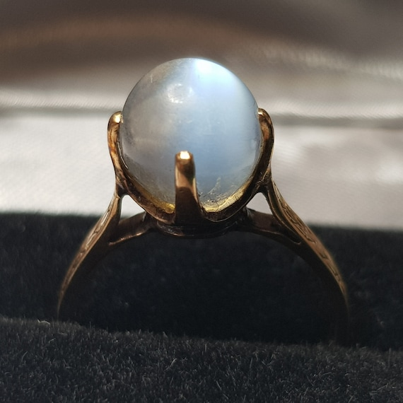 Victorian 14ct Gold Moonstone Ring
