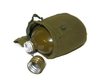 Soviet military Army flask Russian army flask Military flask Aluminum flask USSR Vintage