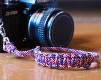 Paracord Camera Wrist Strap - Americana - DSLR Mirrorless Film