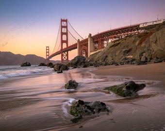 Fine Art Photo Print - San Francisco Golden Gate Picture | Choose Standard Print, Canvas, Metal or Acrylic | Baker Beach San Francisco Ca