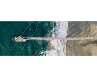 Fine Art Photo Print - Scripps Pier San Diego Aerial Picture   Choose Standard Print, Stretched Canvas, Mounted Metal Print or Acrylic Mount