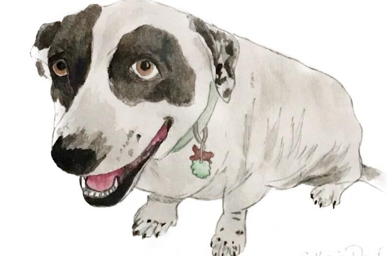 Custom Pet Portrait  Watercolor Pet Painting  Hand Painted  image 0