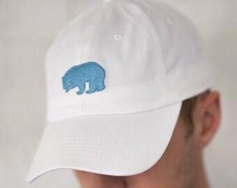 White Cotton Twill Browder Brand Bear Hat