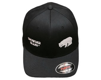 BROWDER BRAND Embroidered Black Flexfit Fitted Baseball Cap