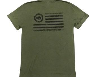 BROWDER BRAND Military Green Flag