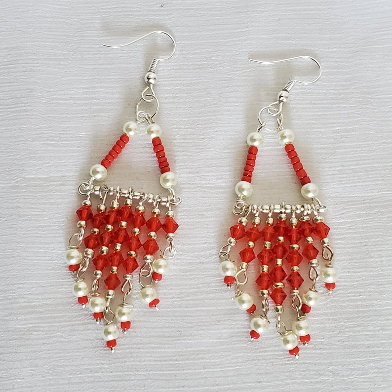 Gift for any occasion Earrings For Fall Sparkling orange