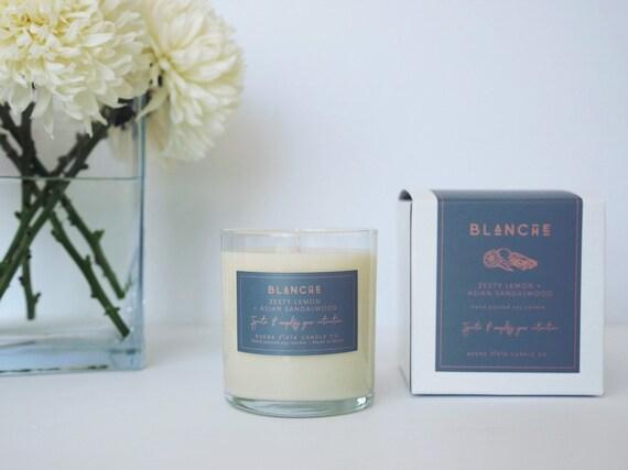 Blanche (Zesty Lemon + Sandalwood) Soy Candle