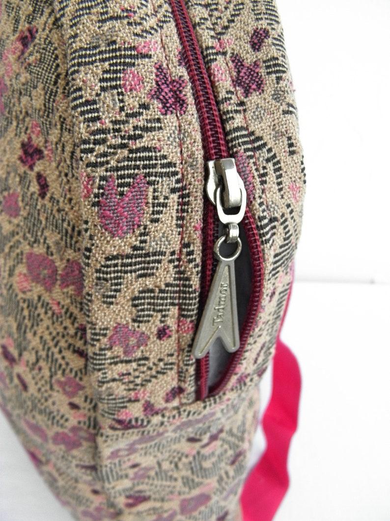 Floral Tapestry backpackBag with birds\u0421olor canvas rucksack