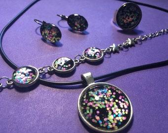 Confetti Sparkle Necklace Set