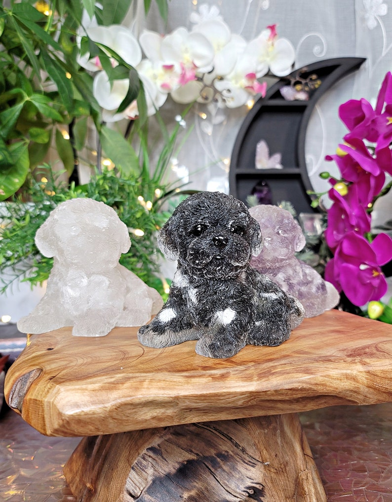 Large Crystal /& Resin Puppy # C-575