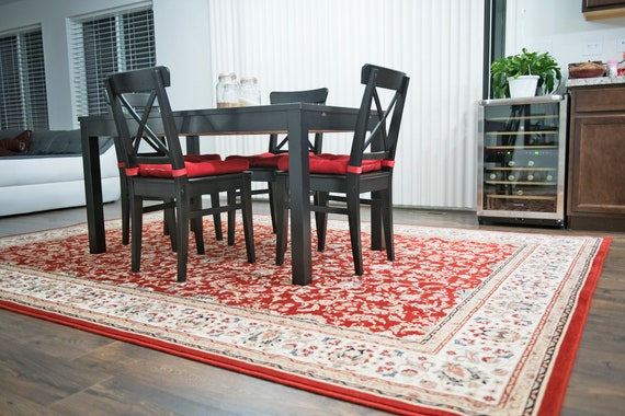 Beautiful Floral Oriental Red Area Rug 5x8 Living Room 5x7