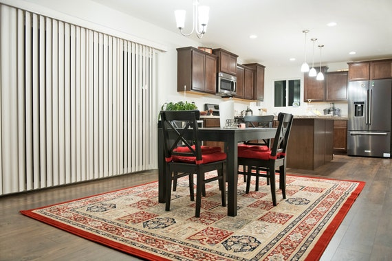 floral area rug 5 x 8 dining room image wool floral 5x8 area rug oriental red living room 5x7 rugs etsy