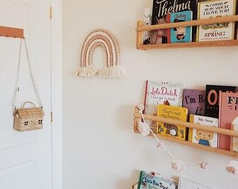 Chunky Macrame Rainbow / Rainbow Wall Decor / Rainbow Nursery / Wall Hanging / Rainbow Baby / Soft Mauve, Cream and Dusty Pink
