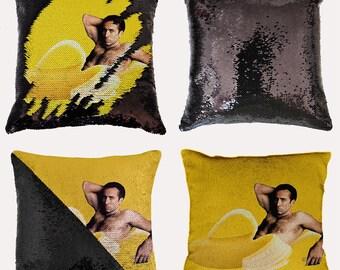 Nicholas Cage In The Banana Sequin Pillowcase Nicolas Pillow Cover Merry Christmas