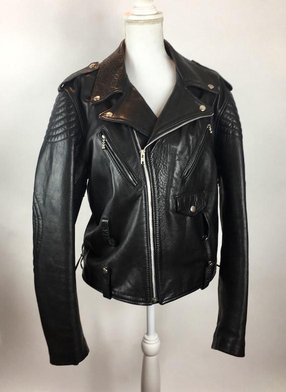 Leather Moto Jacket, Vintage Motorcycle Jacket