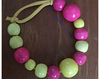 Kids bracelet beaded FREE SHIPPING - made with love