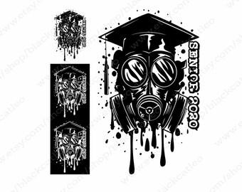 Senior 2020 Cut File Svg Skull In Graduate Cap Senior T Etsy