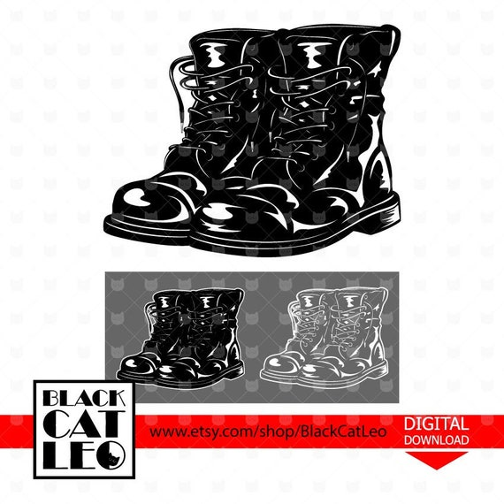 Army Boots svg, Soldeir Boots svg, Military boots vector design, Combat  Boots cut file, Military shoes, Father\u0027s day, Veterans\u0027 day clip art