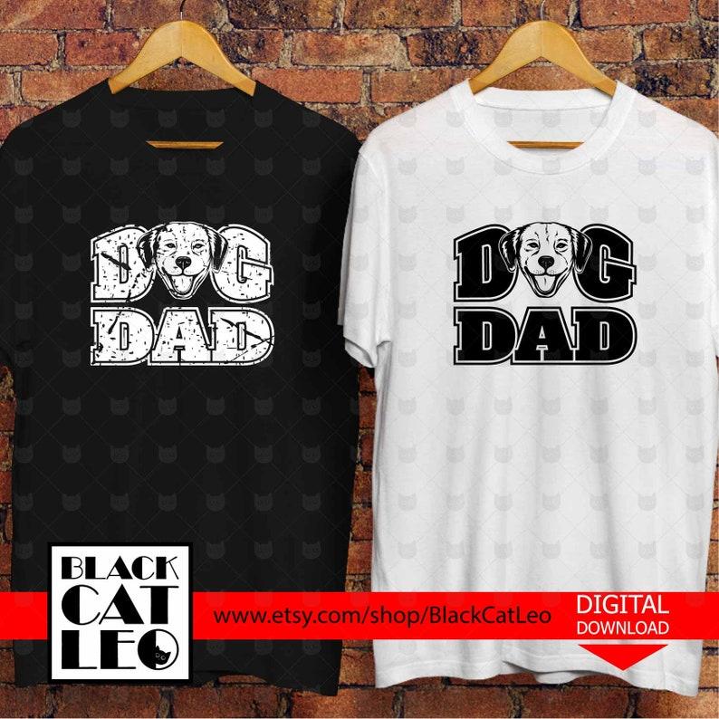 Dog Dad Svg Dog Dad Cut File Distressed Dog Grunge Dog Dad Etsy