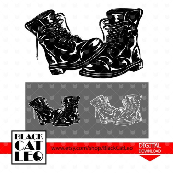 Army Boots svg Soldeir Boots svg Military boots vector design Combat Boots  cut file Military shoes wall decor Father\u0027s Veterans\u0027 day clipart