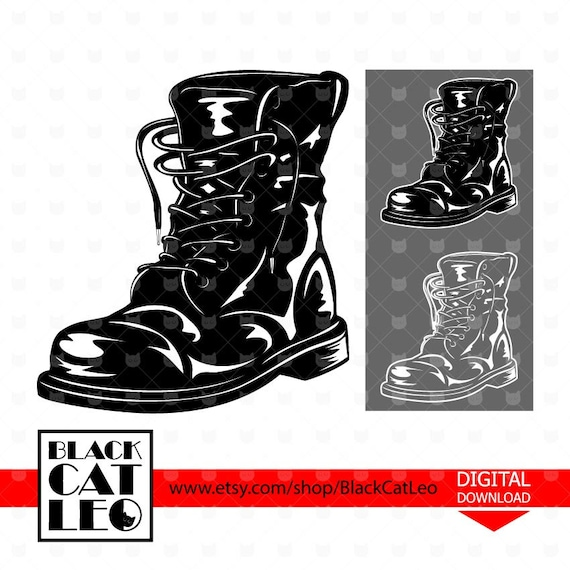 Army Boot svg Soldeir Boots svg Military boots vector design Combat Boots  cut file Military shoes wall decor Father\u0027s Veterans\u0027 day clipart
