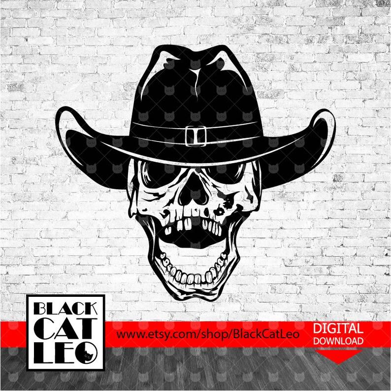 b1e6e64a9d0db Cowboy s Skull in hat vector svg t shirt design Western