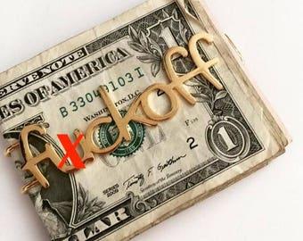 14k Gold 'f*ck off' money clip
