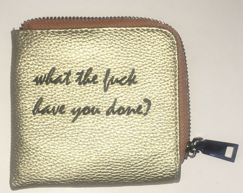 Fuck it embroidered silver wallet image 0