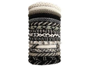 Nepal beaded Bracelet Handmade Bracelets crochet Bracelet Gift with a Cause Affordable Gift Glass bead bracelet crocheted yoga bracelets