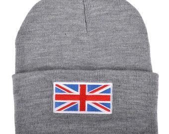 91f10a20f438b Union Jack beanie and london beanie hat unique size and unisex