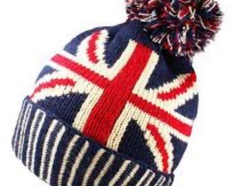 ec2854e4566b9 Union Jack beanie hat unisex one size best qualoty nice and warm