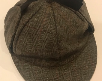 99573b56c6e Sherlock Holmes hat- Deerstalker cap grey
