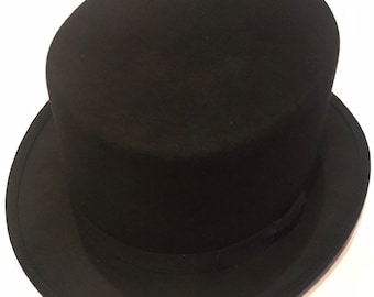 4b5470be48b Top Hat soft wool and crushable for fun and party wear- High top hat  victorian style also ideal for Halloween costume